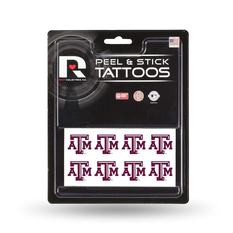 8-Piece Set Rico Industries NCAA Face Tattoos