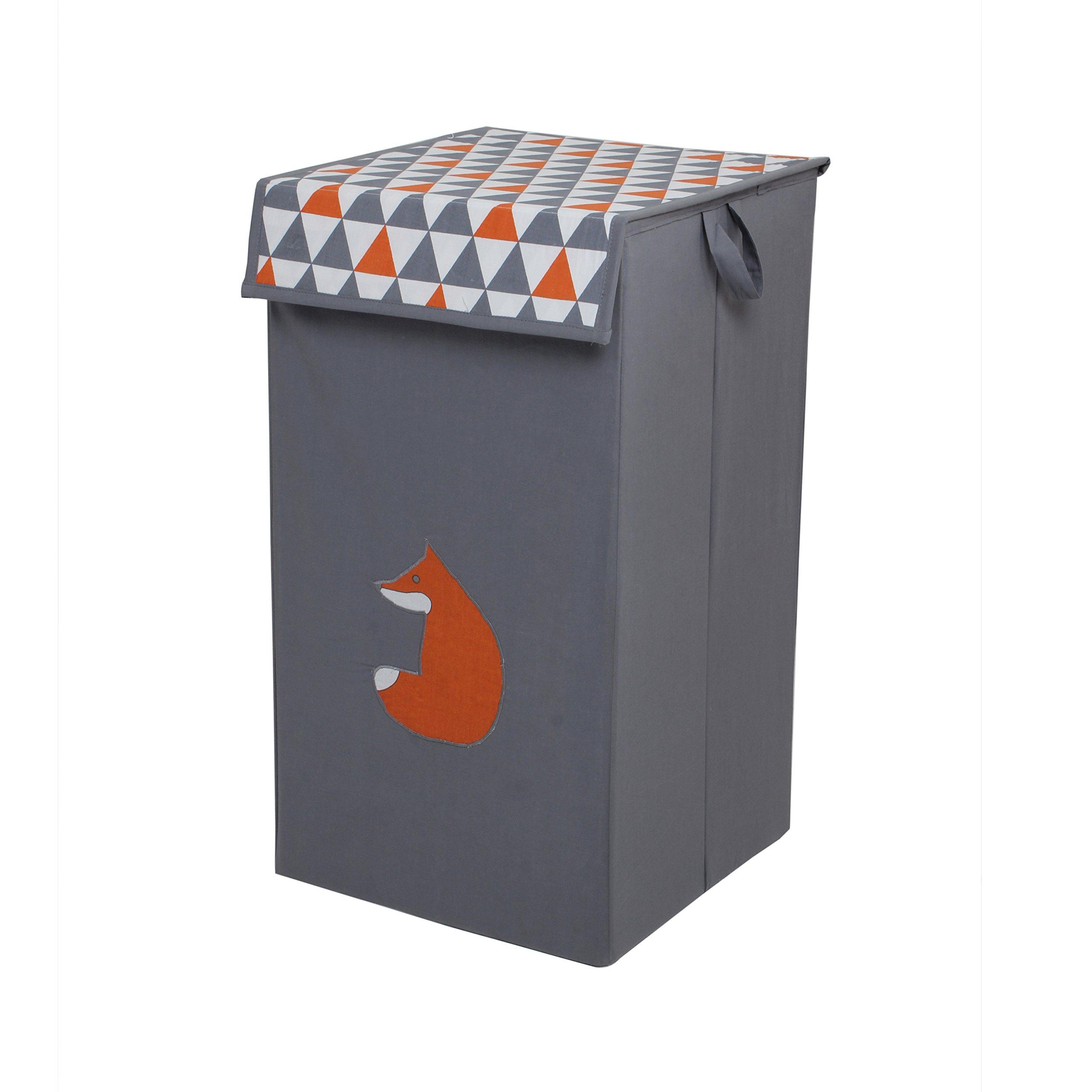 Bacati - Playful Foxs Orange/grey Hamper Collapsible