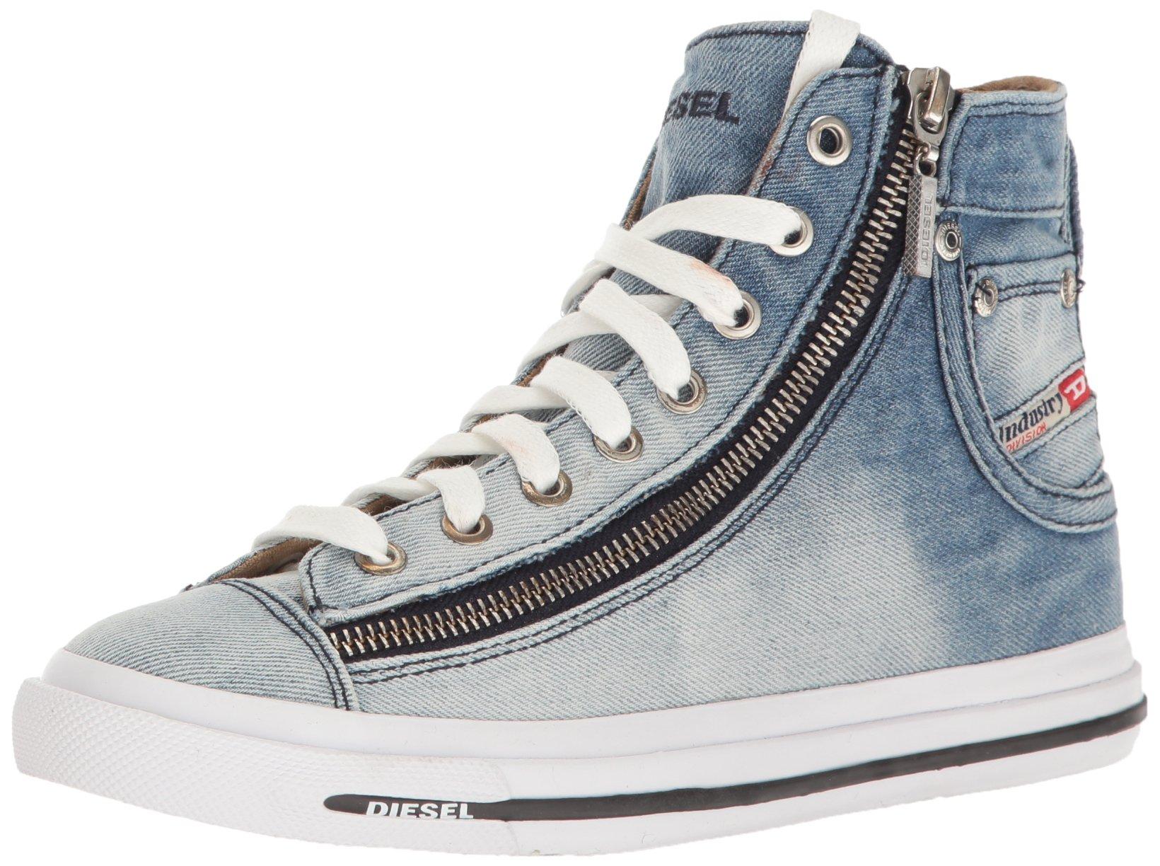 Diesel Women's Magnete Expo-Zip W Fashion Sneaker, Indigo, 8 M US