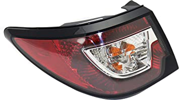 Evan-Fischer Tail Light Assembly Compatible with 2013-2017 Chevrolet Traverse Outer - CAPA Driver Side