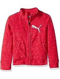 PUMA Girls Girls' Space Dye Zip-up Jacket Sweatshirt
