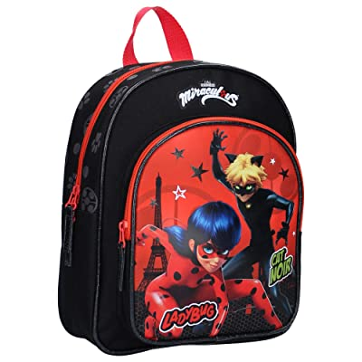 Miraculous Ladybug and Cat Noir Backpack School Bag 12 Inches Official | Kids' Backpacks