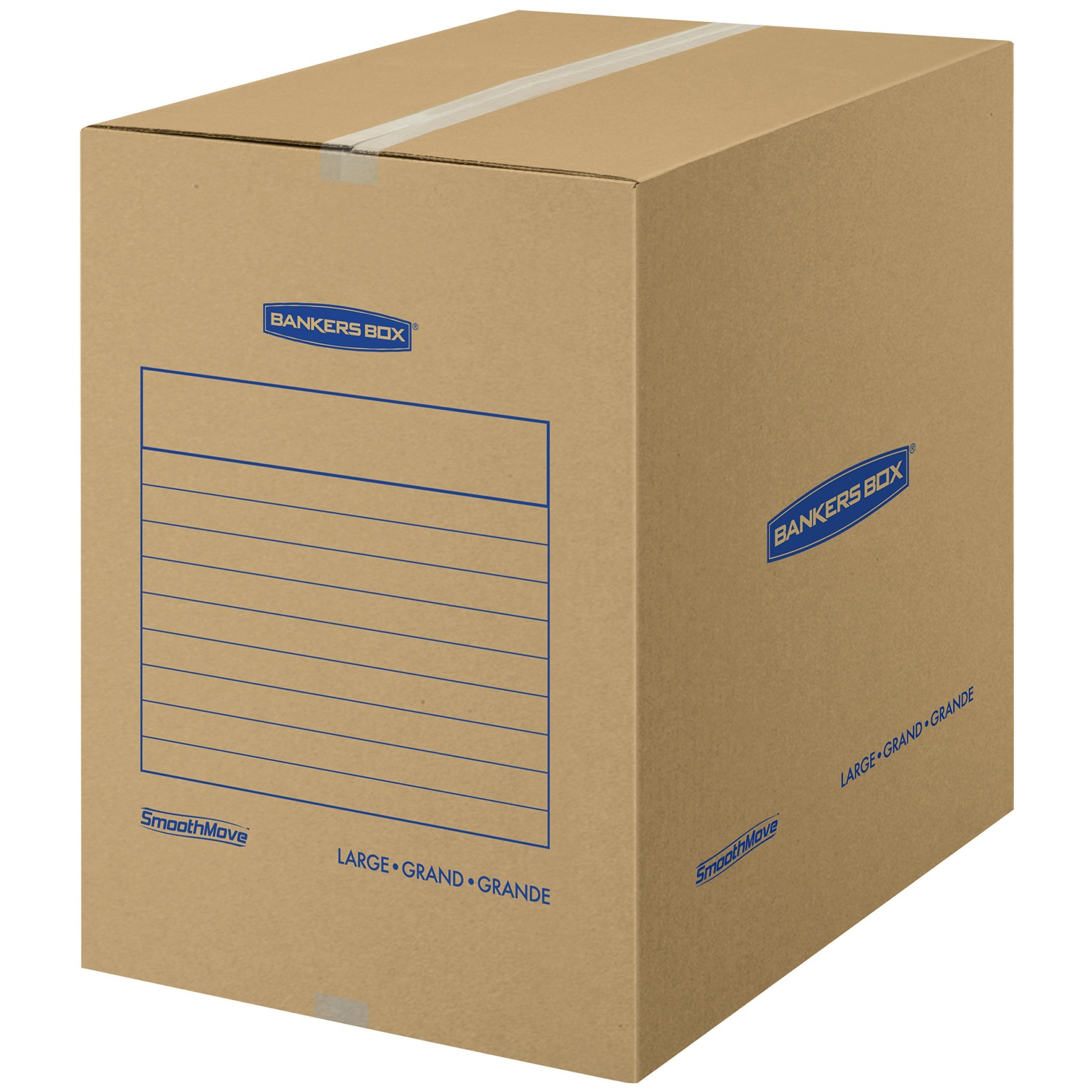 Bankers Box SmoothMove Basic Moving Boxes, Large, 18 x 18 x 24 Inches, 7 Pack (7714002)