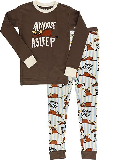 LazyOne Unisex Out Cold Kids PJ Set Long Sleeves