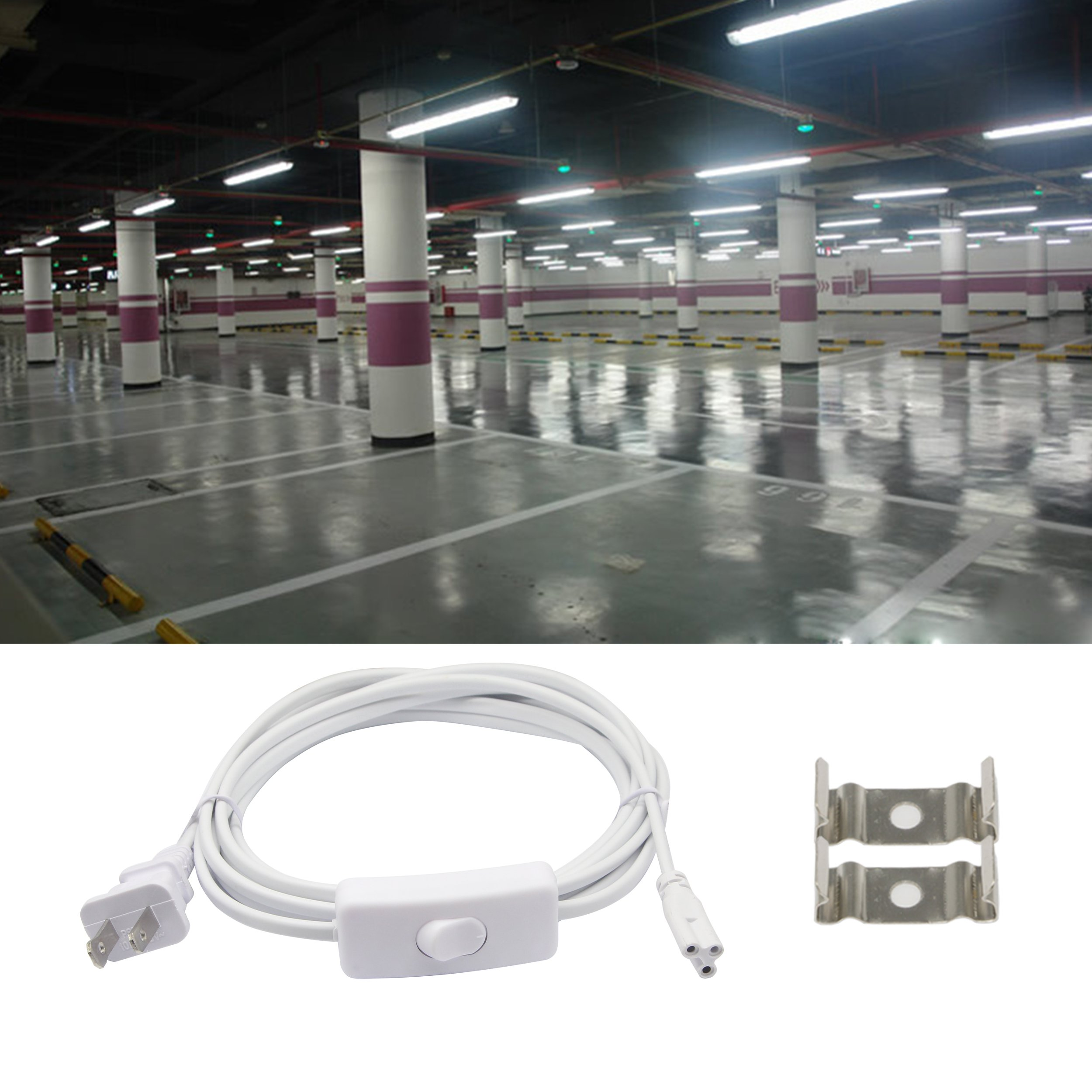 Wire Extension Cord To Light Fixture | Sinloon T5 T8 Led Wire Connector Power Cord Led Tube Power Extension
