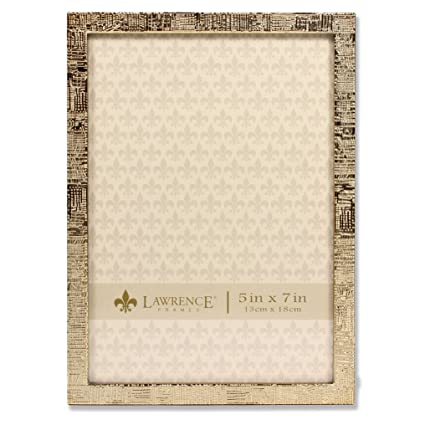 Amazon.com - Lawrence Frames 5x7 Gold Metal Picture Frame with Linen ...
