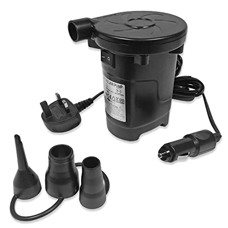 2IN1 Electric Air Pump Inflator For Inflatables Bed Airbed Camping 12v//240v UK