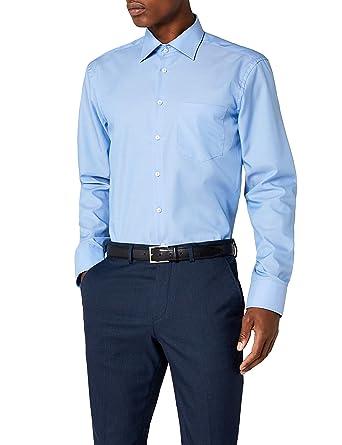 1600a34117 Seidensticker Camicia Business Tailored Fit da Uomo con Collo Kent, a  maniche lunghe