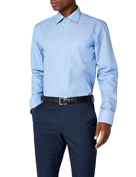 8e0d8928b7cb Seidensticker Camicia Business Tailored Fit da Uomo con Collo Kent, a  maniche lunghe: Amazon.it: Abbigliamento