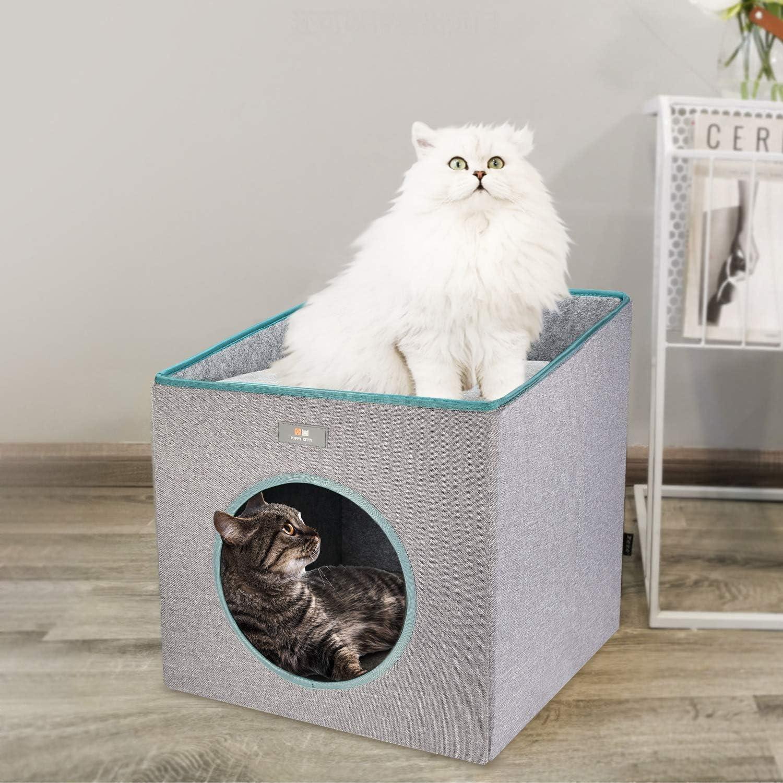 incluye coj/ín suave. Elegante cueva para gatos con cama para gatos P/&K