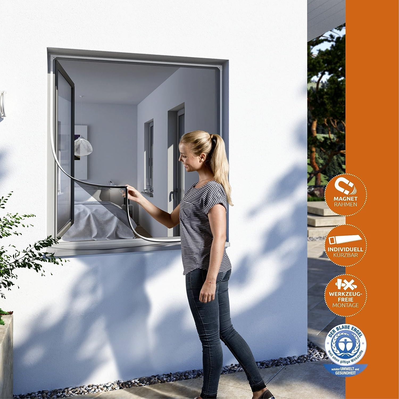 Windhager Insektenschutz Magnetfenster MAGNET Rahmen für Fenster ...