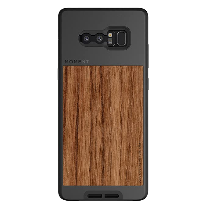 buy online 0efb7 75540 Galaxy Note 8 Case || Moment Photo Case in Walnut Wood - Thin, Protective,  Wrist Strap Friendly case for Camera Lovers.