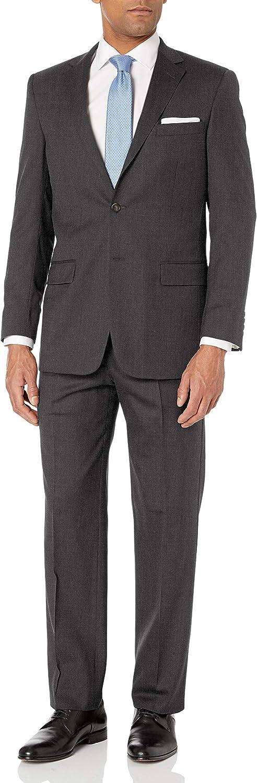 Hart Schaffner Marx Men's 2 Button New York Fit Side Vent Suit