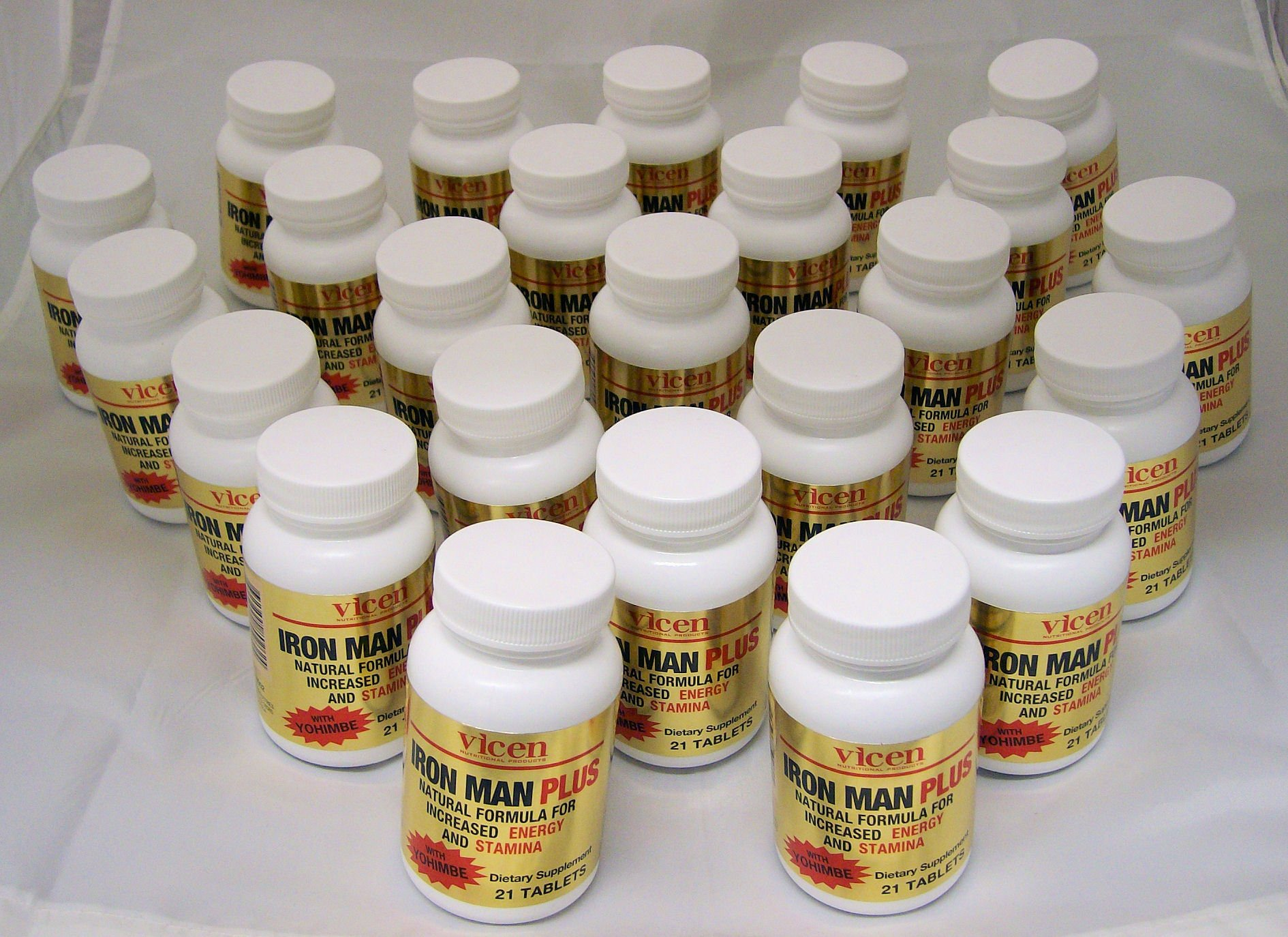 Vicen Case of 24 Bottles Iron Man Plus Male Stamina & Energy Enhancement WithYohimbe