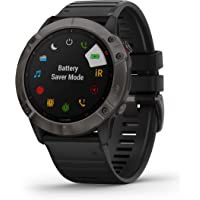 Garmin fenix 6X Sapphire, Premium Multisport GPS Watch, Features Mapping, Music, Grade-Adjusted Pace Guidance and Pulse…