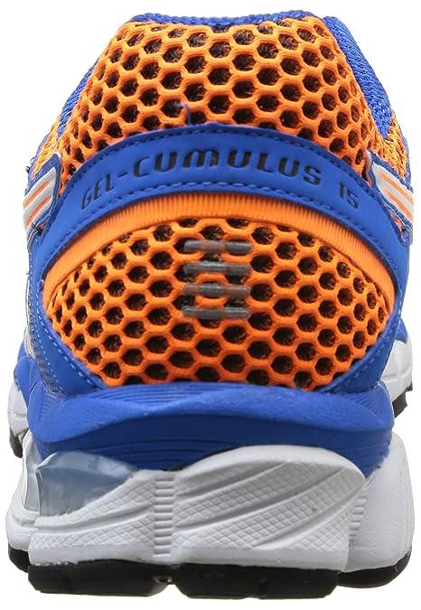 b7b044206 Asics Zapatillas Performance Gel-Cumulus 15 Azul Naranja Blanco EU 48 (US  13)  Amazon.es  Zapatos y complementos
