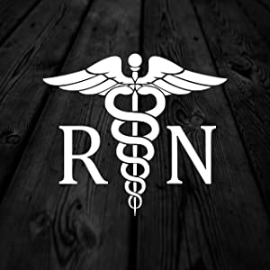RN Rod of Asclepius Animals Car Decals,Vinyl Window Stickers for Door Bottle Laptop Cars Wall Art