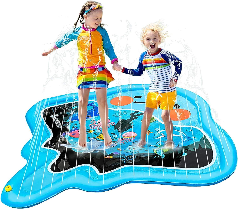 SuSenGo Splash Pads Sprinkler Mat for Kids Toddler, Large Size 82