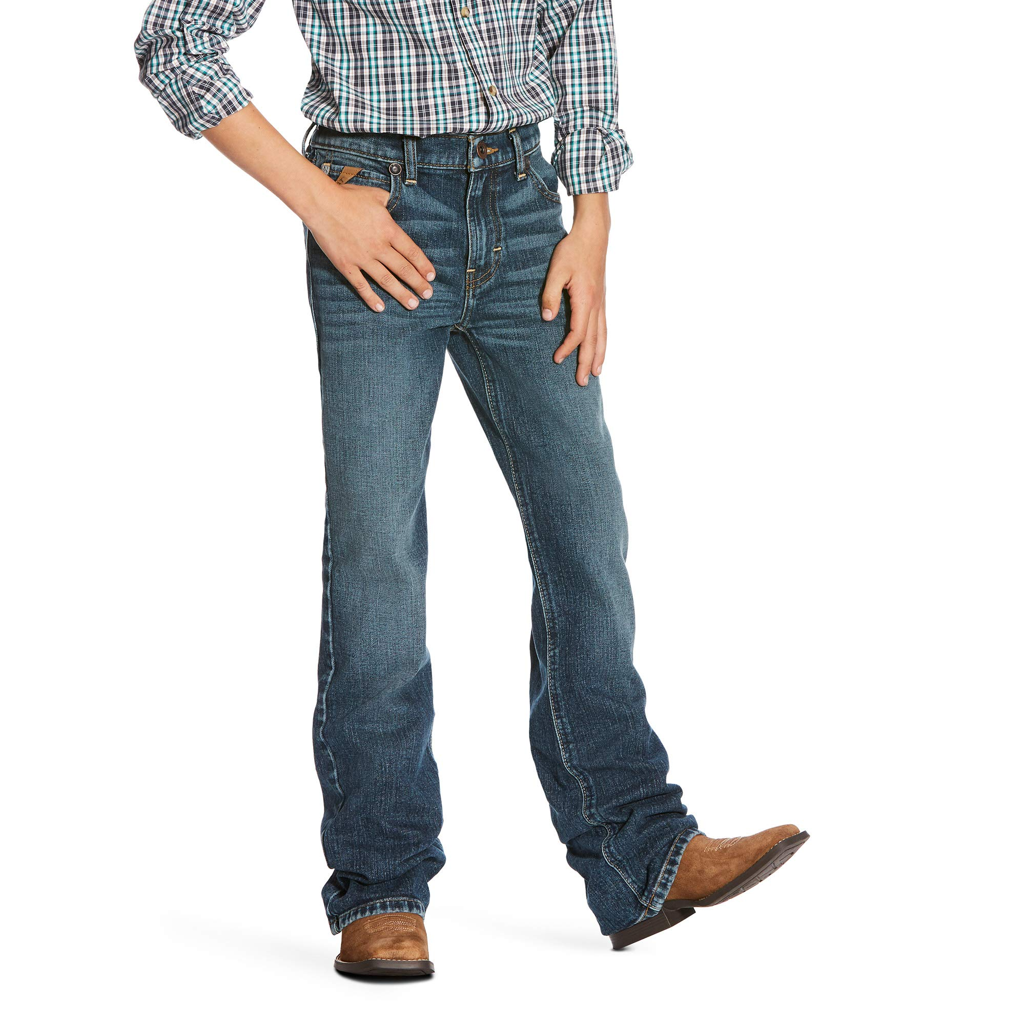 ARIAT Boys' Big B4 Relaxed Fit Bootcut Jean, Kilroy, 14 R