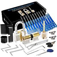 Luxebell Lock Picking, 33 stuks Lock Pick Set met 3 transparante hangsloten bieden 4 trainingsniveaus voor beginners en…