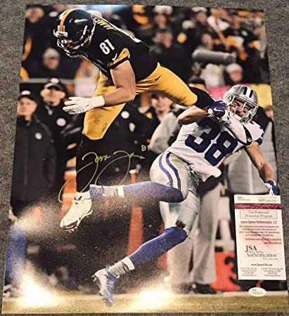 ce58d58c6 Jesse James Autographed Signed Pittsburgh Steelers 16x20 Photo - JSA  Authentic