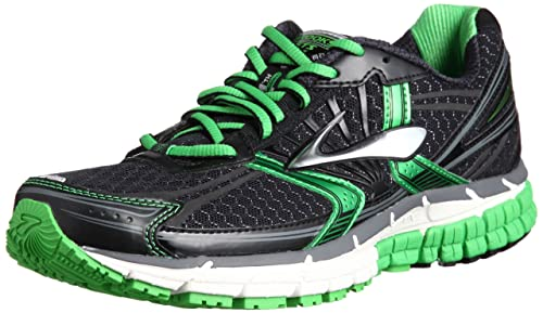 974bed30d9416 Brooks Mens Adrenaline Gts 14 M Black Speed Green Silver Ankle-High  Synthetic