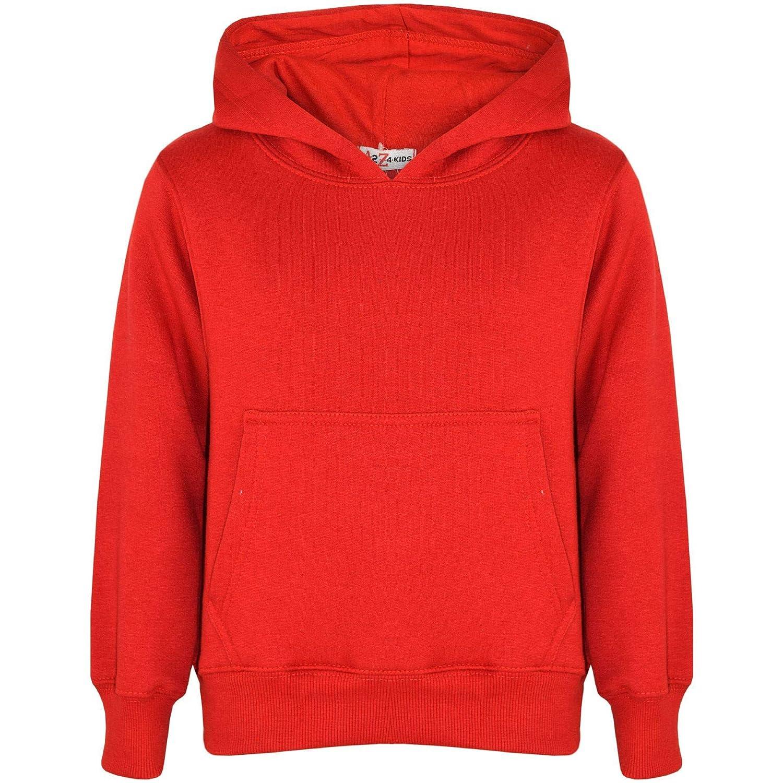 A2Z 4 Kids Kids Girls Boys Sweatshirt Tops Designer's Casual Plain Pullover Sweatshirt Fleece Hooded Jumper Coats Warm Shirts Age 2 3 4 5 6 7 8 9 10 11 12 13 Years