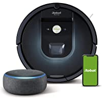 iRobot Roomba 981 - Robot Aspirador, WiFi, Aspiración de Alta Potencia, Dirt Detect, Recarga y Sigue la Limpieza + Echo…