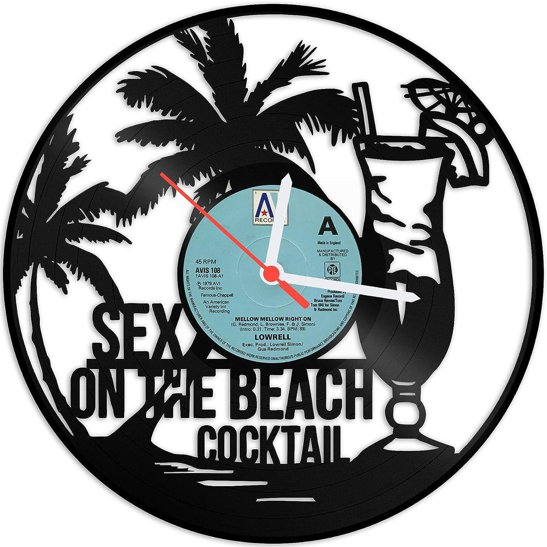 Gravurzeile Wanduhr Aus Vinyl Schallplattenuhr Sex On The Beach Upcycling Design Uhr Wand Deko Vintage Uhr Wand Dekoration Retro Uhr Made In Germany Küche Haushalt