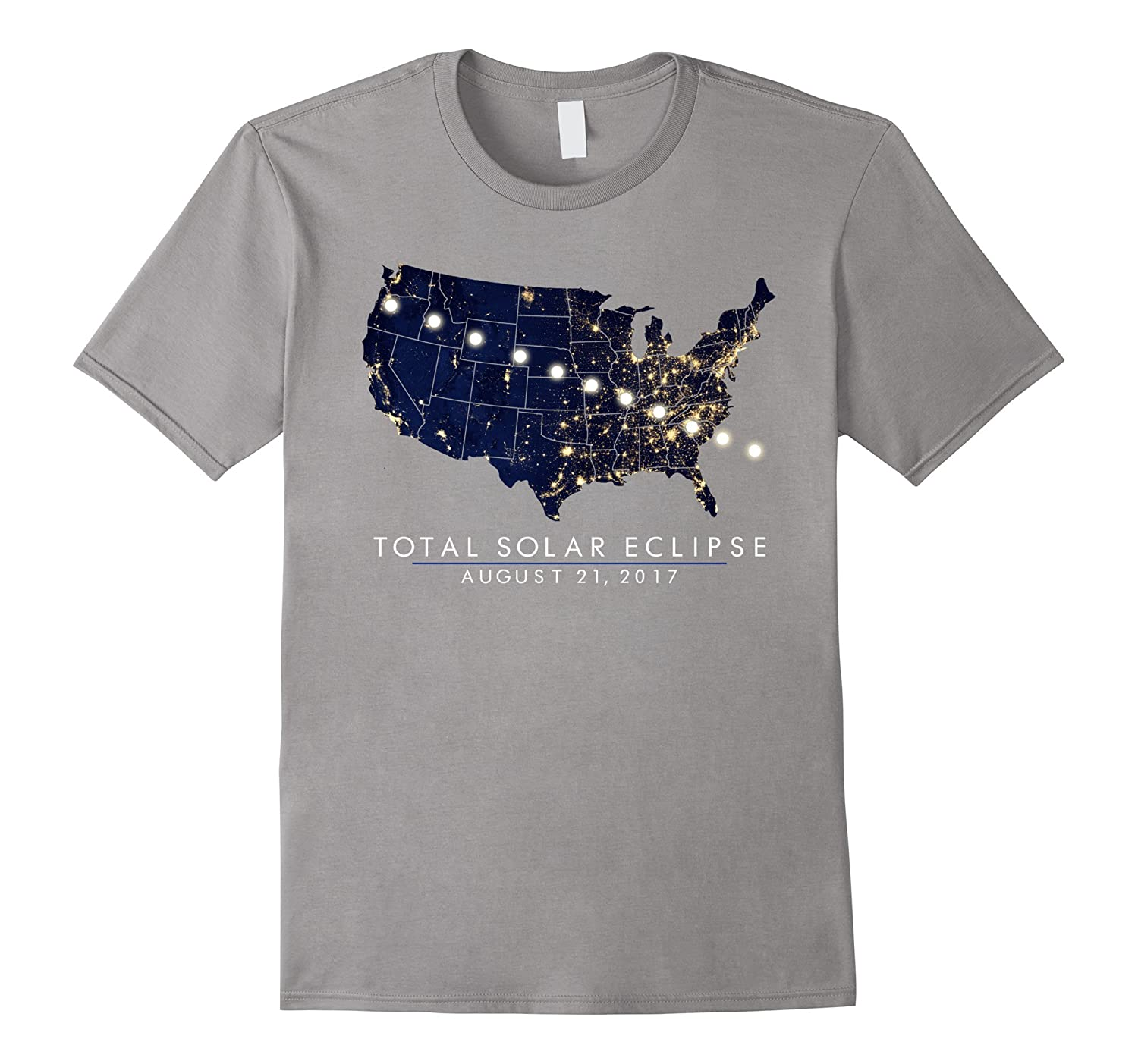 Total Solar Eclipse Map Tshirt of the USA 8/21/2017-BN