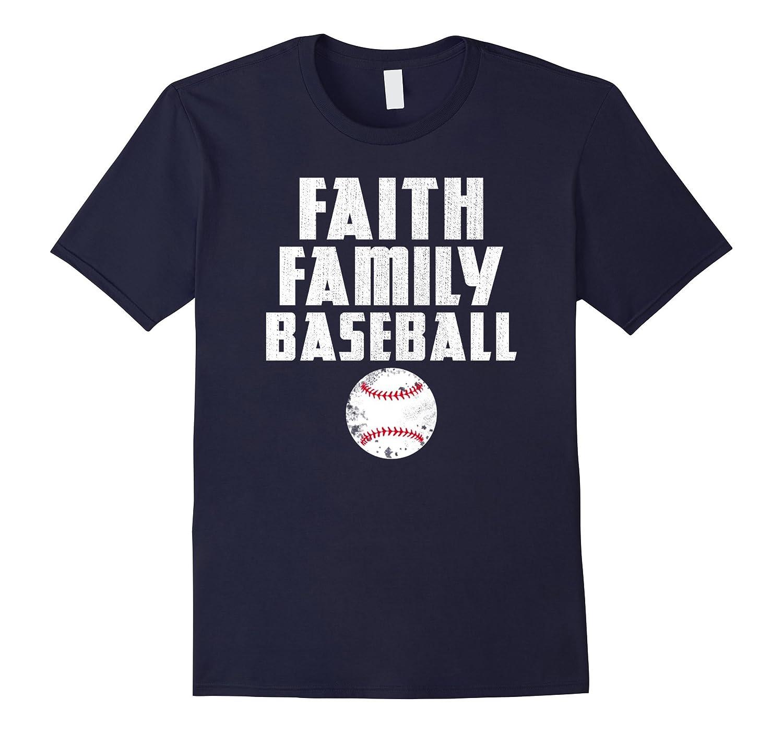 Faith Family Baseball T Shirt-BN