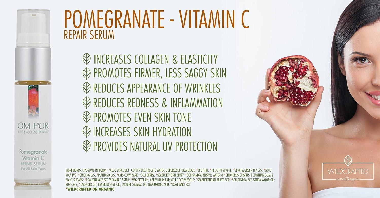 amazon com om pur pomegranate vitamin c serum for face organic