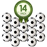 Colonel Pickles Novelties Foosball Table Replacement Foosballs- 14 Pack - 36mm Game Table Size - Black and White Tabletop Soc