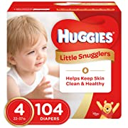 Huggies Little Snugglers Baby Diapers, Size 4, 104 Count, GIANT PACK (Packaging May Vary)