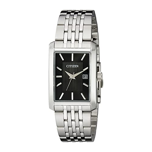 Citizen Mens Stainless Steel Rectangular Watch