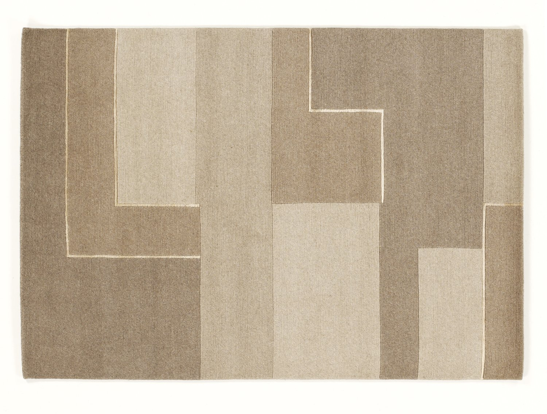 CONGRESS NEODYM echter original handgeknüpfter Nepal Teppich in creme-braun, Größe  90x160 cm