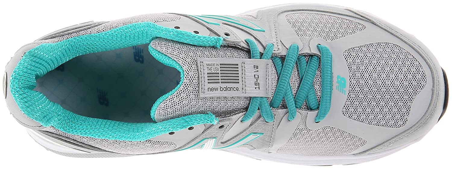 New Balance Women's W1540V2 Running Shoe B00IZC6QPI 6 D US|Silver/Green