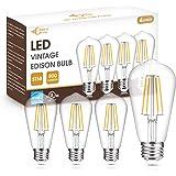 Vintage Edison Bulb 60W Equivalent, DORESshop Dimmable 7W ST58 Antique LED Filament Light Bulb, Warm White 2700K, E26 Base Sq
