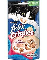 Felix Crispies Katzensnack, Katzenleckerlis mit Proteinen, Vitaminen und Omega 6 Fettsäuren, 8er Pack (8 x 45 g)