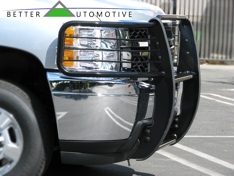 Will Interfere w//sensors if Equipped BETTER AUTOMOTIVE Custom Fit 2005-2015 Nissan Xterra Grill Guard Black