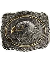 Boucle de ceinture Eagle Head en plaqué or détaillant, en un de mes présentation en coffrets