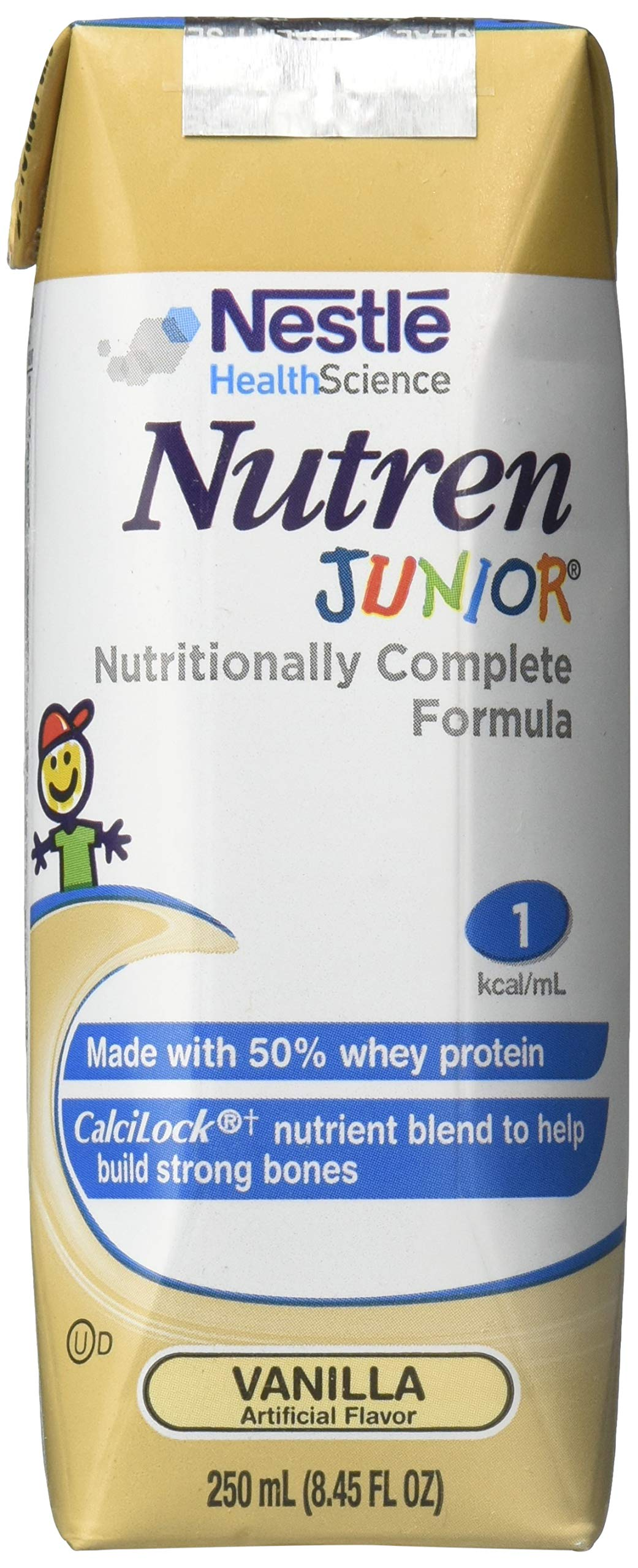 Amazon.com: NUTREN JUNIOR Vanilla Brikpaks 24 x 250 mL Case: Health & Personal Care