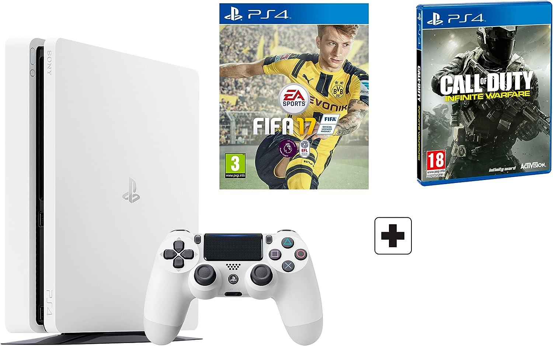 PS4 Slim 500Gb Blanca Playstation 4 Consola - Pack 2 Juegos - FIFA ...