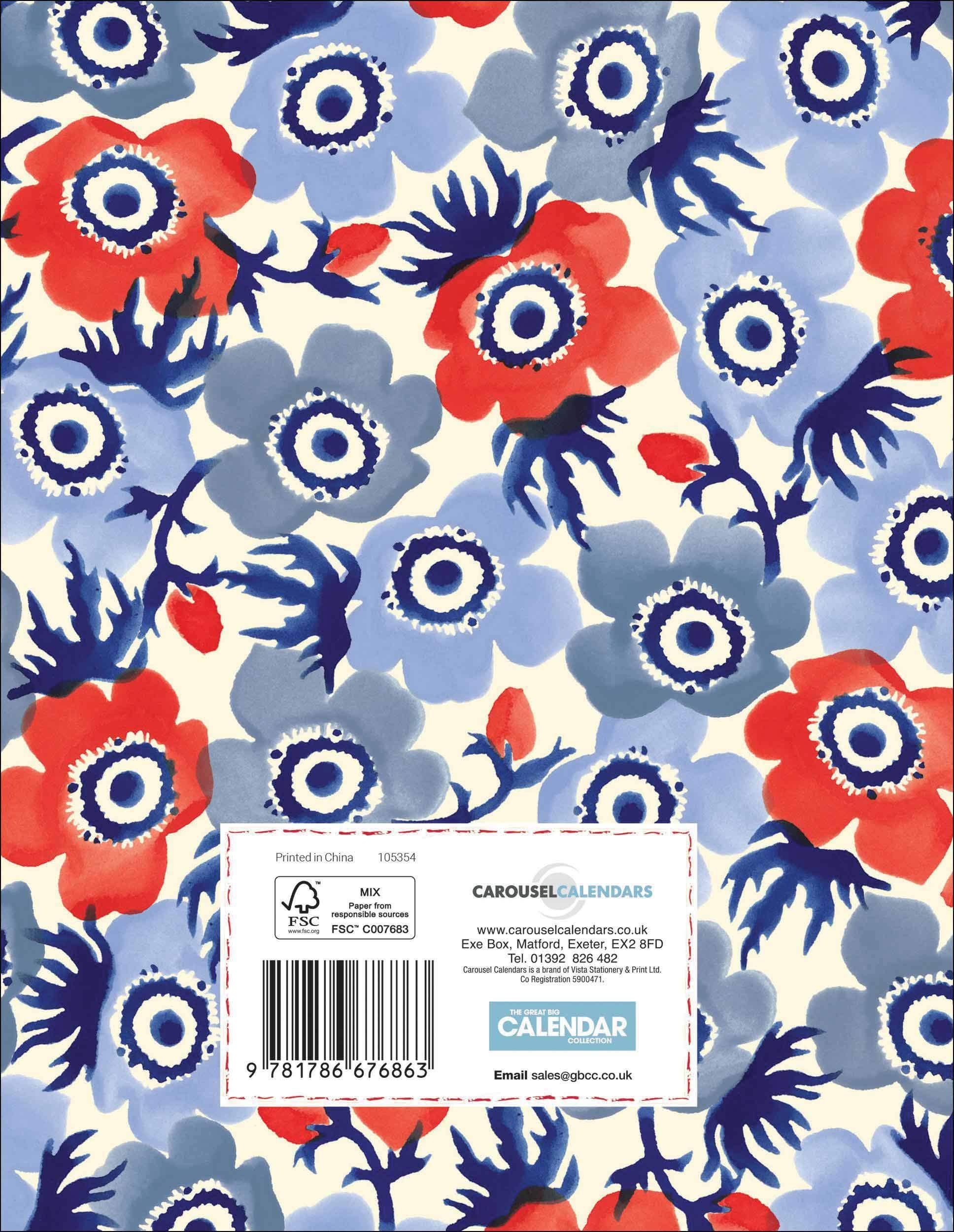Anemone A5 Deluxe Diary 2020 Emma Bridgewater