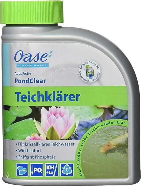 Oase de purificador de Agua Algo Pond Clear 500 ml, Plata: Amazon ...