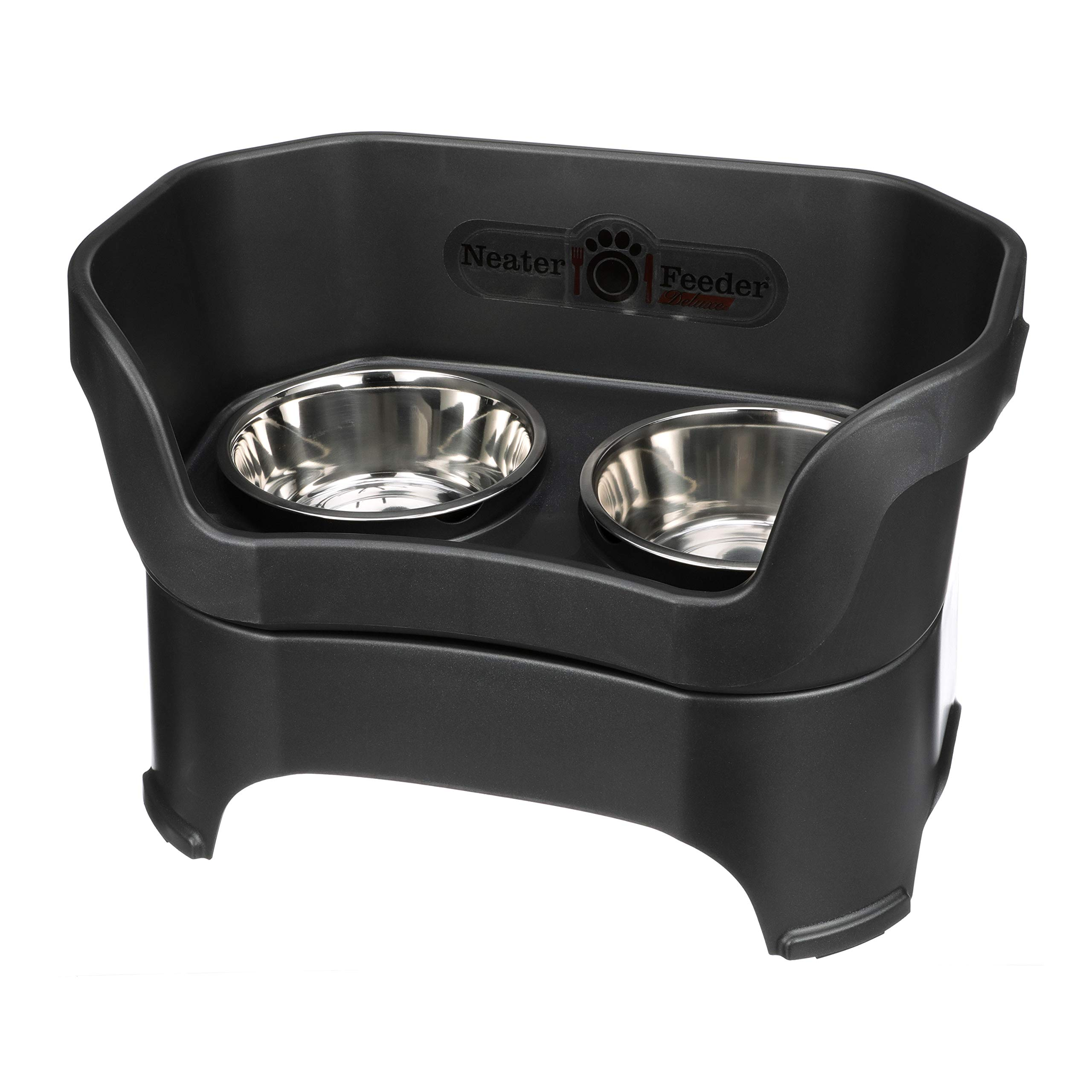 Neater Feeder Deluxe (Midnight Black, Large Dog) by Neater Pet Brands