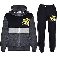Kids Jogging Suit Boys Girls Designer's Tracksuit Zipped Top Bottom Age 7-13 Yr