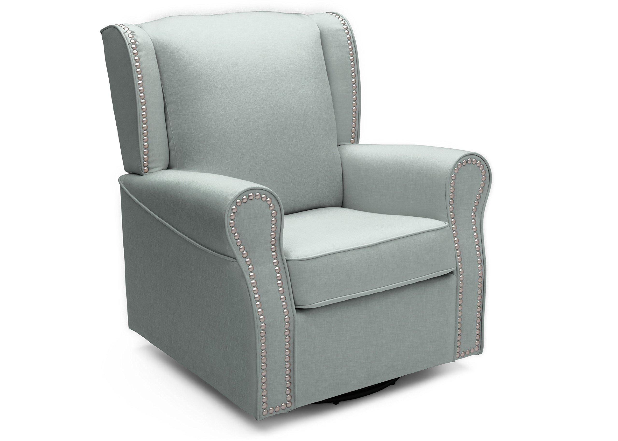Delta Furniture Middleton Upholstered Glider Swivel Rocker Chair, Sea Breeze
