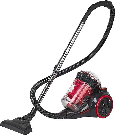 Opinión sobre Family Care Aspirador ciclónico sin bolsa, depósito 3L, 700W, filtro HEPA hipoalergénico, Eficiencia energética A+++, color rojo-negro