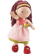 Haba 302841 - Puppe Mona, süße Stoffpuppe mit Kleidung und Haaren, 30 cm, Spielzeug ab 18 Monaten